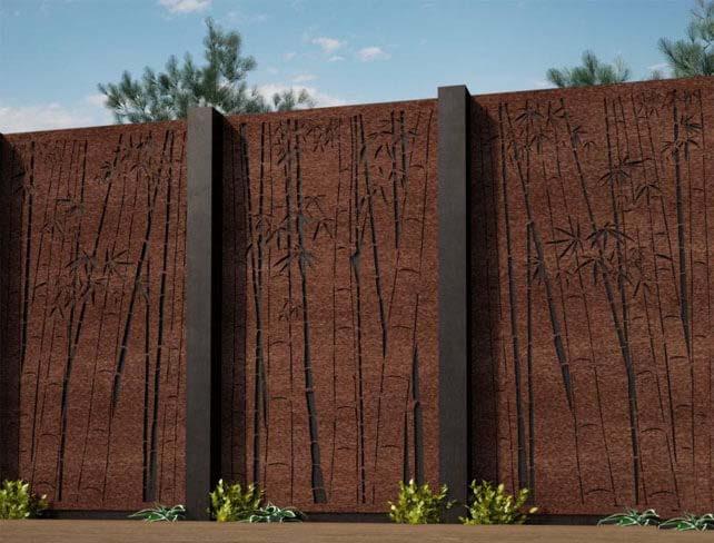 Corten Garden Screen Panels Cost Weathering Steel Fence Screening