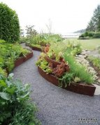 The benefit of corten steel garden edging