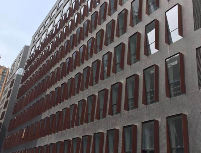 Corten A corrosion resistant iron building at Malaysia