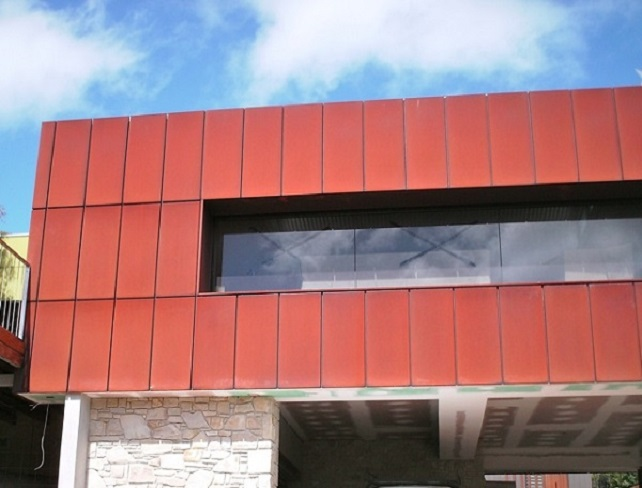 Architects's favorite wall cladding material corten steel